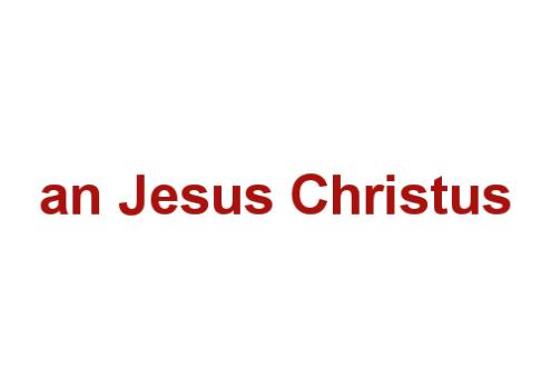 an Jesus Christus